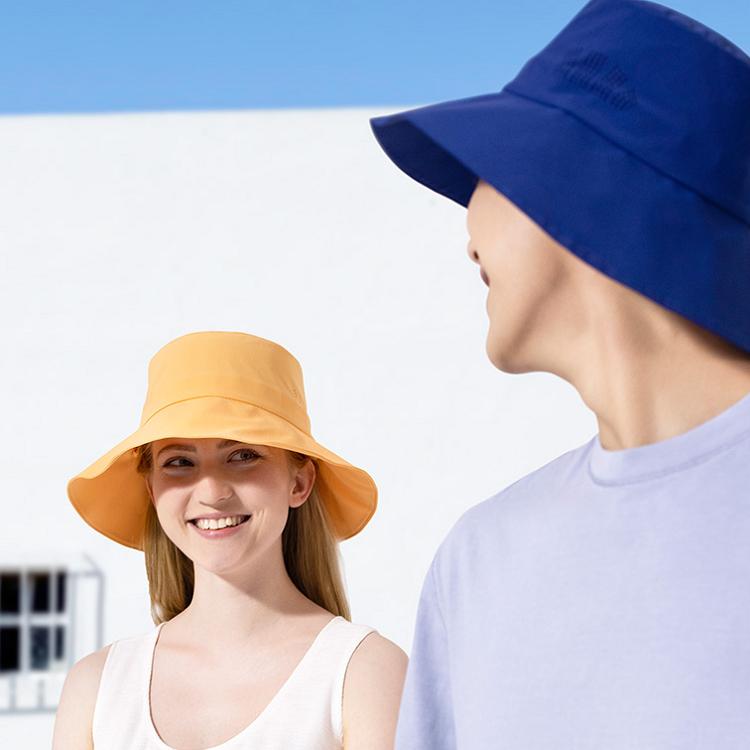 夏季薄款渔夫帽日系情侣防晒帽-时时淘