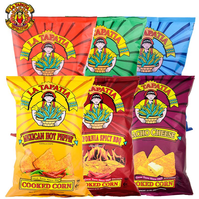 美国原装进口墨西哥少女玉米片膨化食品休闲零食品粗粮代餐283.5g