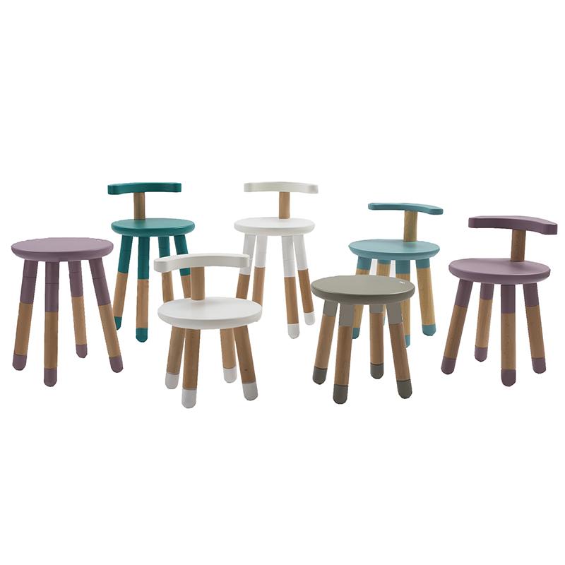 意大利MUtable宝宝可升降调节椅加厚椅子靠背实木儿童