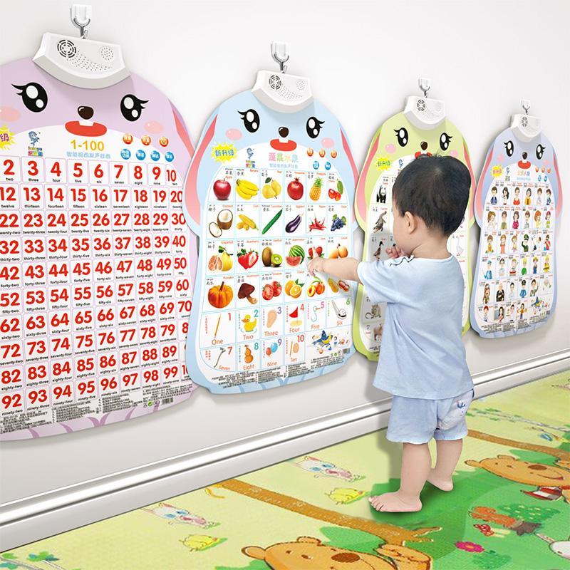 挂图有声玩具宝宝童认识早教识字发声幼儿字母表墙贴婴儿v挂图拼音