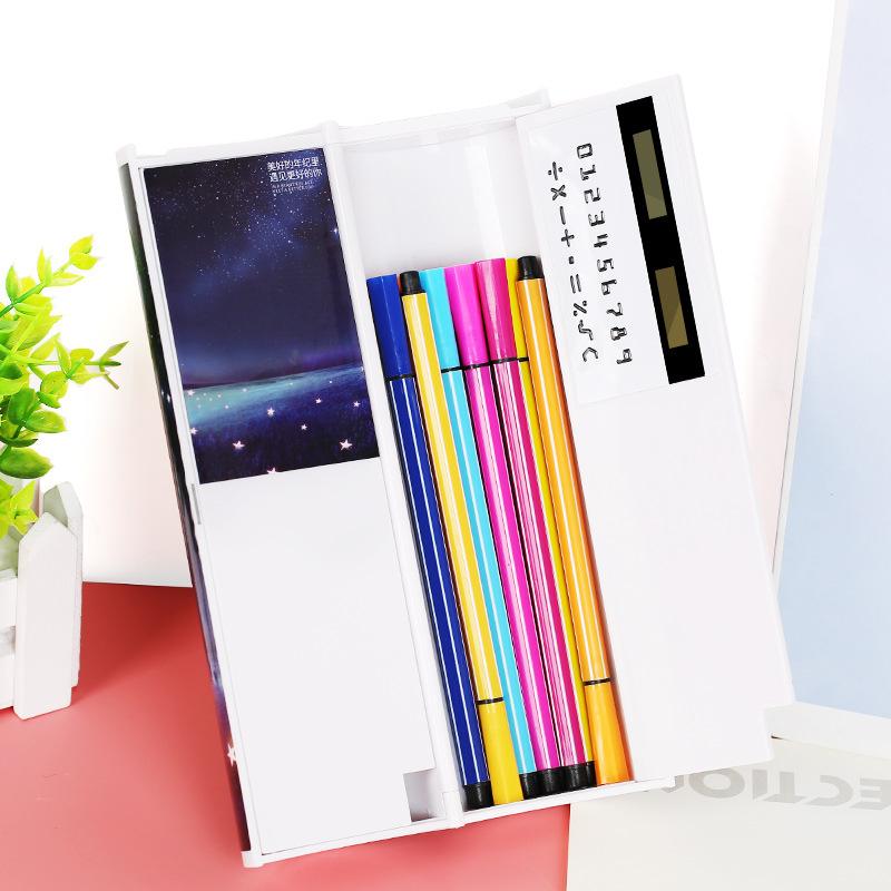 网红文具盒多功能大容量笔盒抖音同款 1-3年级韩版简约幼儿园可爱笔袋韩国创意个性儿童小学生铅笔盒男女孩