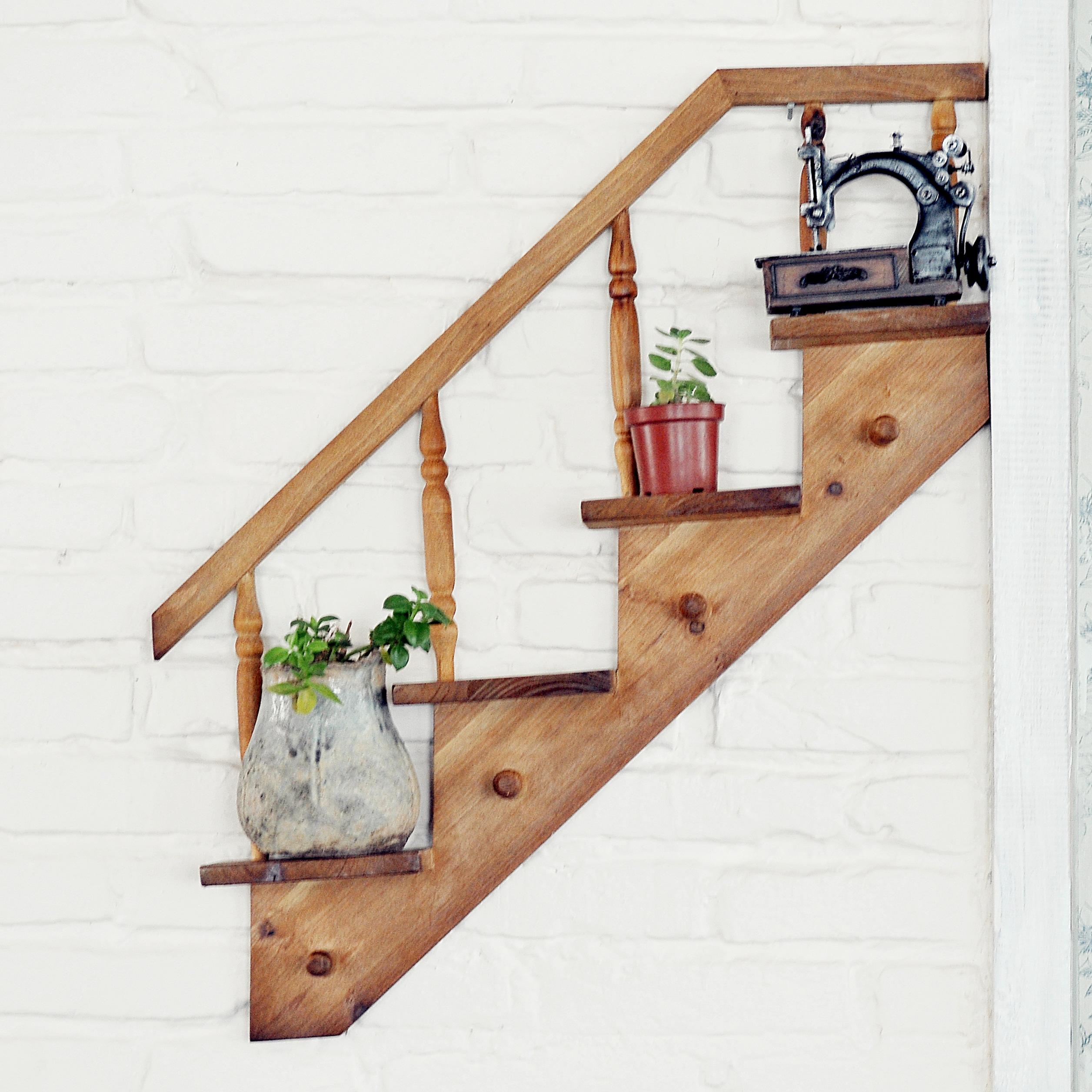 Настенный аксессуар Экологические выхода оригинальной одного полка лестница настенный настенные творческий Стеллаж для выставки товаров украшения для одежды полка сепаратор