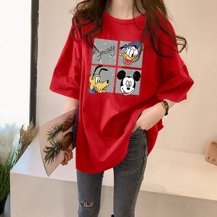 Maternity summer short-sleeved t-shirt 2020 summer cotton Korean version of the long section of the pregnant women's compassionate loose half-sleeved shirt tide