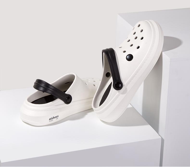 小米生态链 芯迈 舒适透气洞洞鞋 厚底沙滩鞋 图6