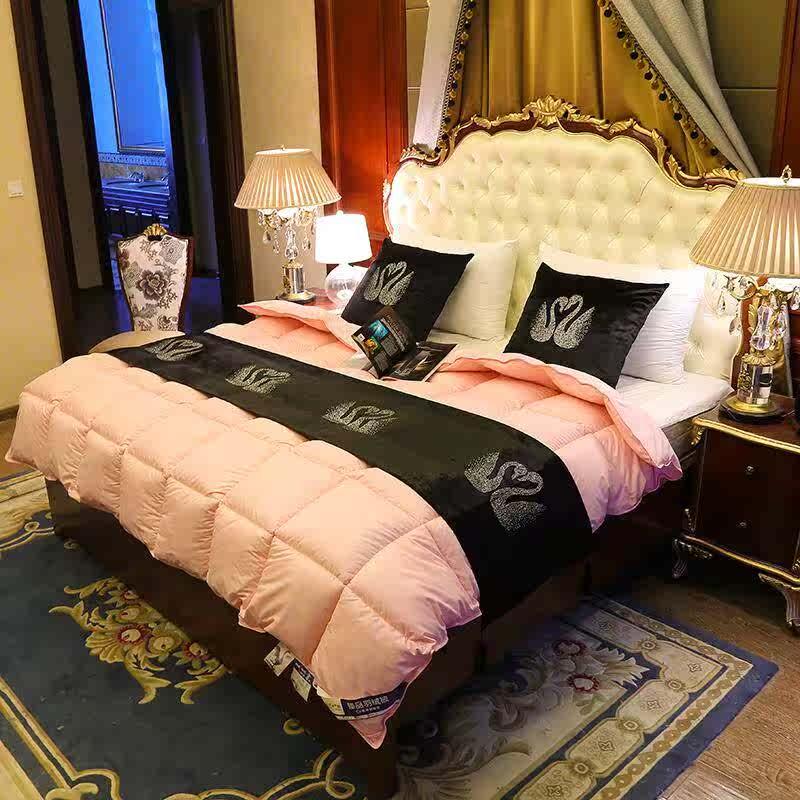 酒店羽绒被95白鹅绒冬被加厚被子单人学生宿舍棉鸭绒毛被双人被芯