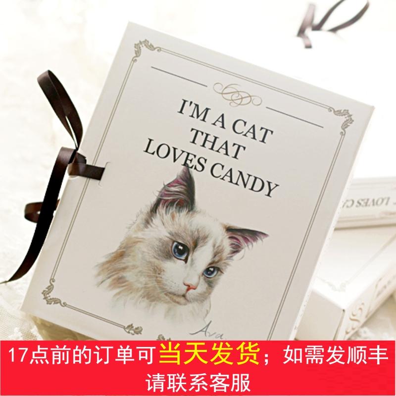 9格小布偶巧克力包装盒情人猫生日礼品猫咪粒状节圆糖果盒子盒