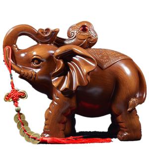 【天猫】大象摆件开业客厅工艺装饰品
