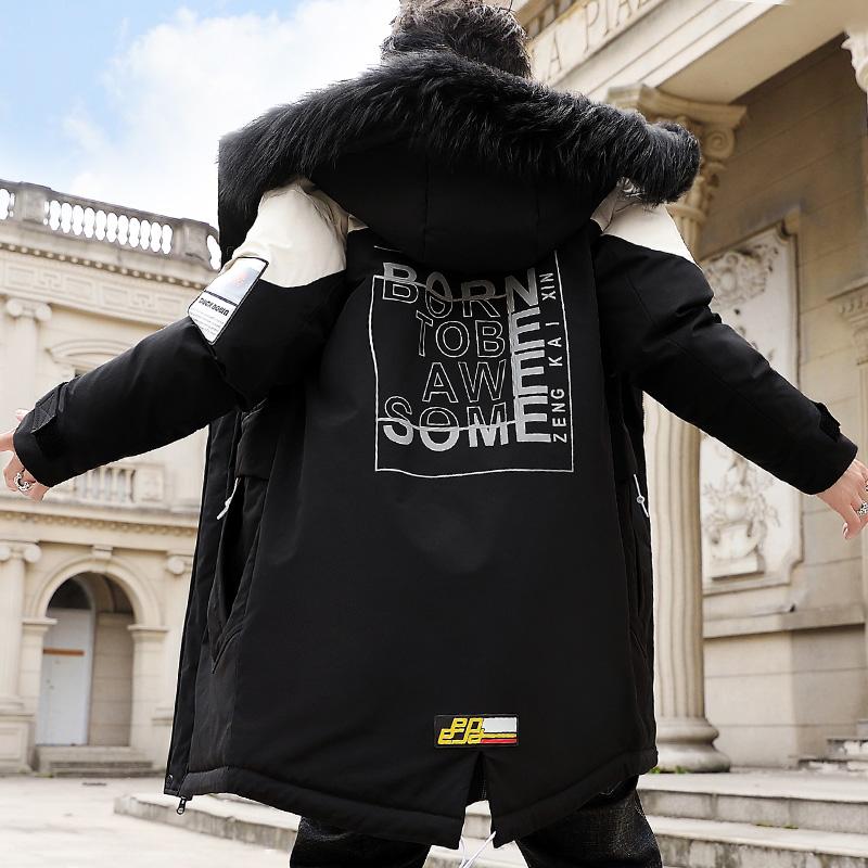 晶际正品男装加厚保暖羽绒棉服加绒棉衣外套