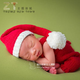 Children's photography Christmas theme clothes photo studio hundred days baby photo props decoration love Berry photo clothing