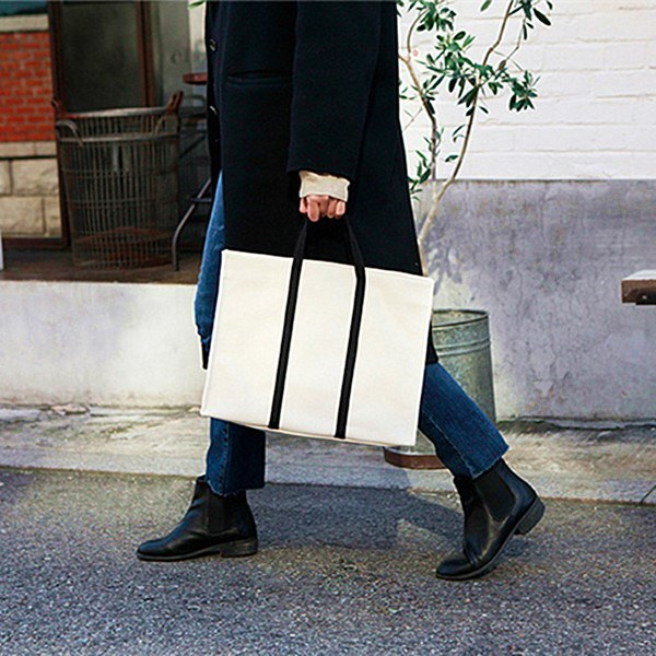 Accounting student female handbag, versatile briefcase, female portable occupation document, large capacity literature and art material bag o