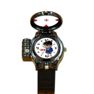 动漫柯南红外线激光手表夜光指针款儿童石英男孩女孩学生运动款