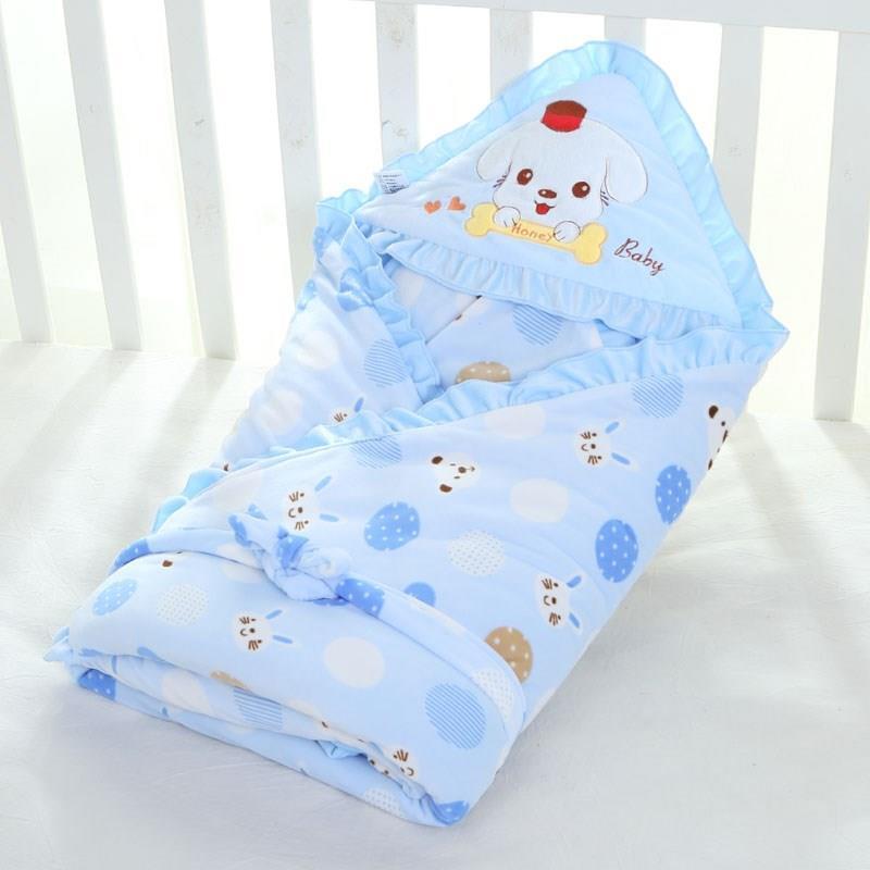 两用新生儿带帽包被秋冬加厚款防风冬天毛毯可爱毛巾被斗篷连体