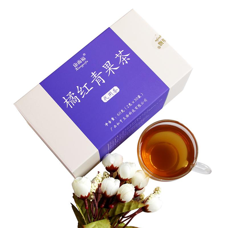 康而福橘红青果茶罗汉果薄荷甘草清凉茶用嗓子茶润喉护嗓子养生茶