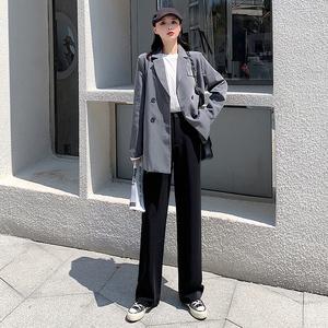 【玛索嘉】高腰宽松夏季薄款西装裤