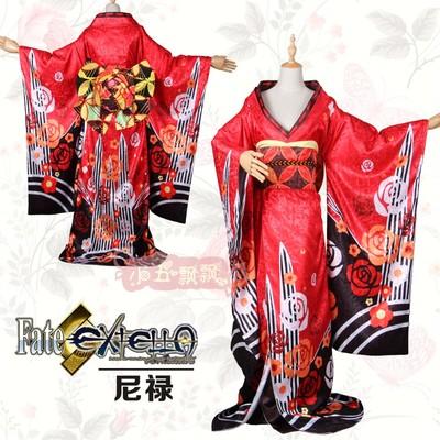 taobao agent Xiaowu Piaopiao FATE Series Fate/EXTELLA Nero Vibrating Sleeve Kimono Yukata Cos Clothes