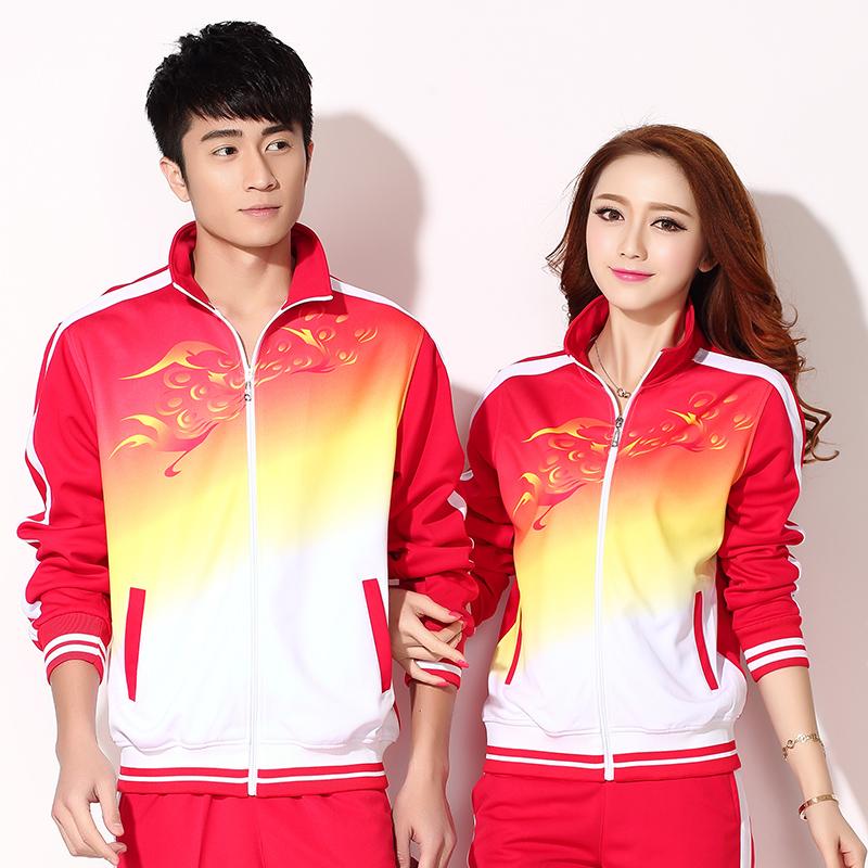 晋冠春秋团体丝南韩运动套装三广场服装舞中老年大码男女长袖件套