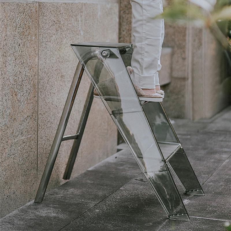 家用加厚室内移动可折叠三步置物梯