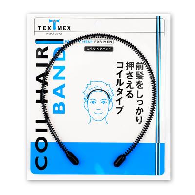 现货日本TEXMEX发箍男 大波浪小圈圈不勒头隐形头箍 潮男油头发箍