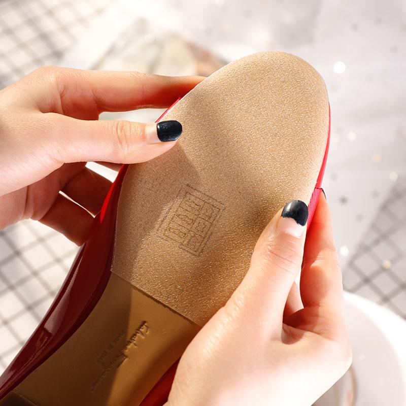 真皮大底鞋底贴耐磨防滑鞋贴鞋子女免剪前掌贴保护膜3m高跟鞋底贴