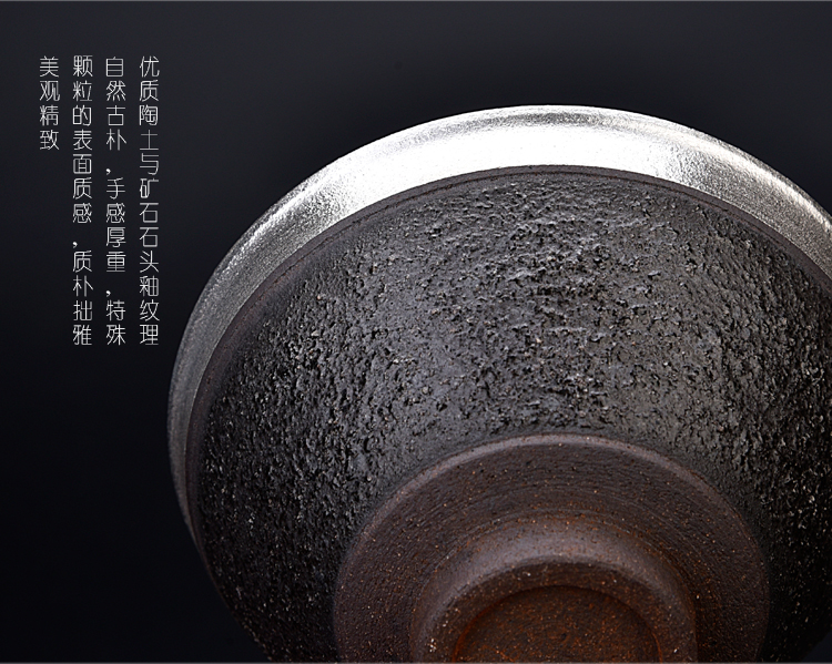 The ancient sheng up new silver cup silver cup pure manual iron tire household enamel - lined coppering. As silver cup silver to The master