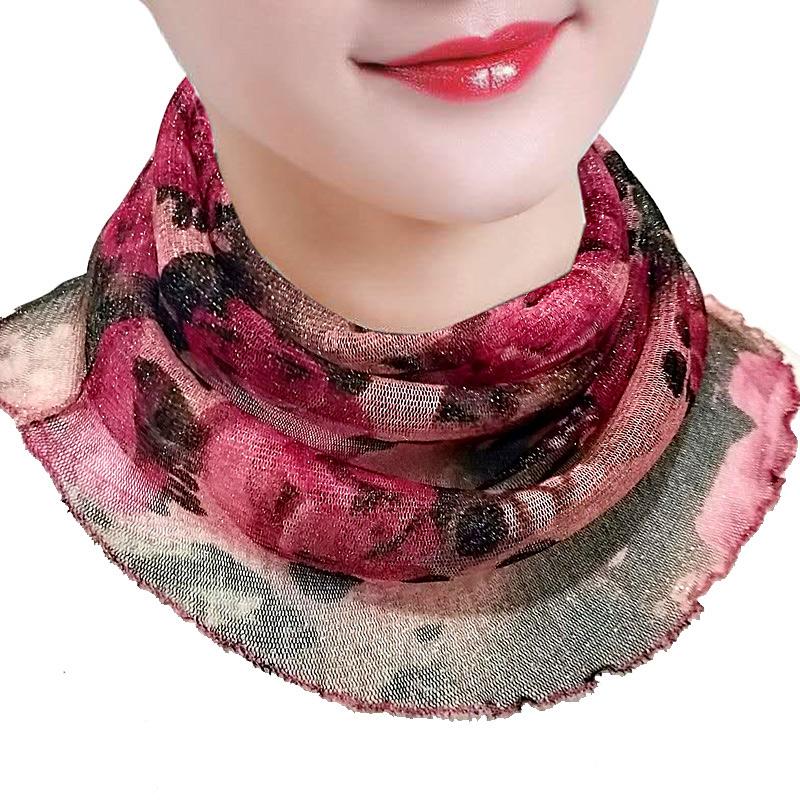 护颈小围脖女防晒脖套夏季薄款挂耳式百变丝巾防紫外线两用口罩