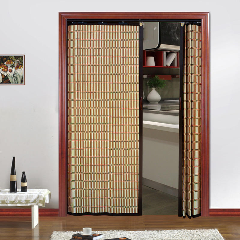 Charmant Bamboo Curtain Folding Sliding Door Home Bedroom Simple Door Living Room  Shade Partition Curtain Mall Sliding