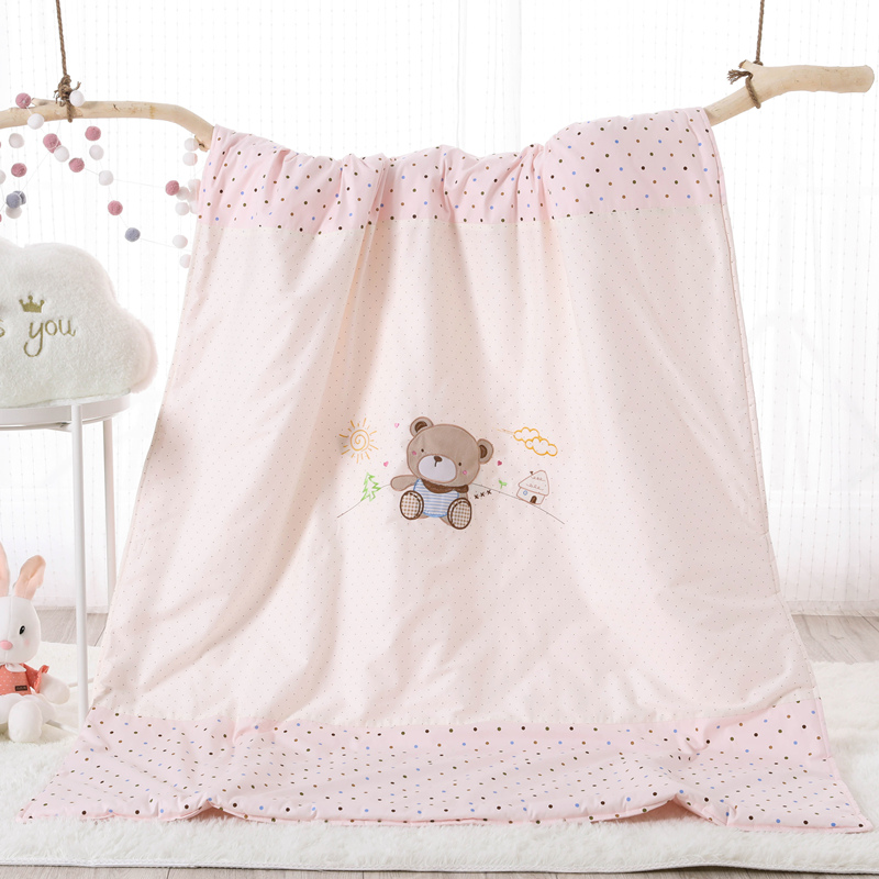 COTTON EMBROIDERED CHILDREN'S SUMMER - BEAR POWDER