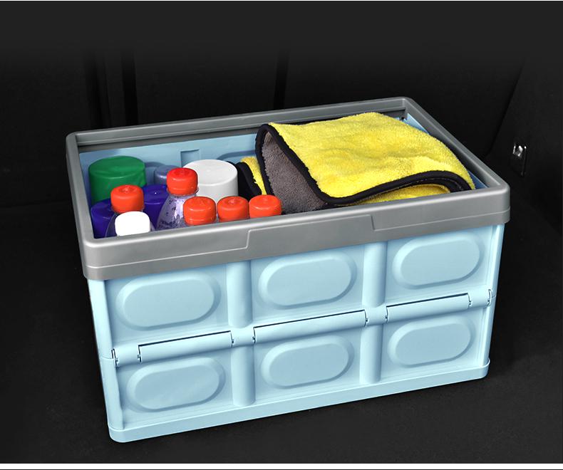 汽车收纳箱后备箱收纳箱车载多功能整理箱车用置物盒摺迭尾箱用品详细照片