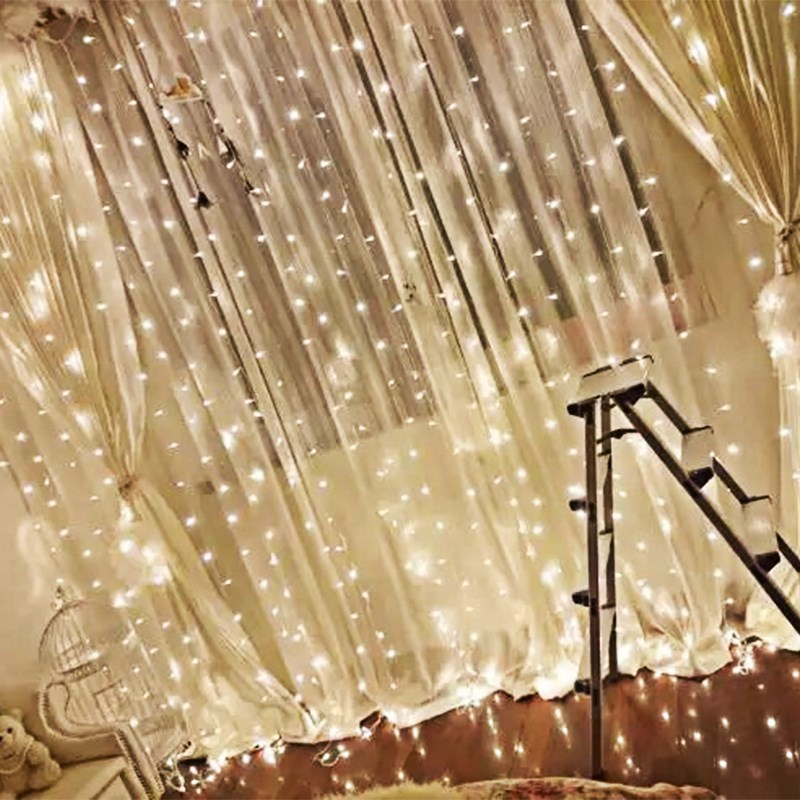 Hanging photo of lights curtains on the stars Lights Bedroom creative bedroom decorative trinkets hanging lights dorm girls bed