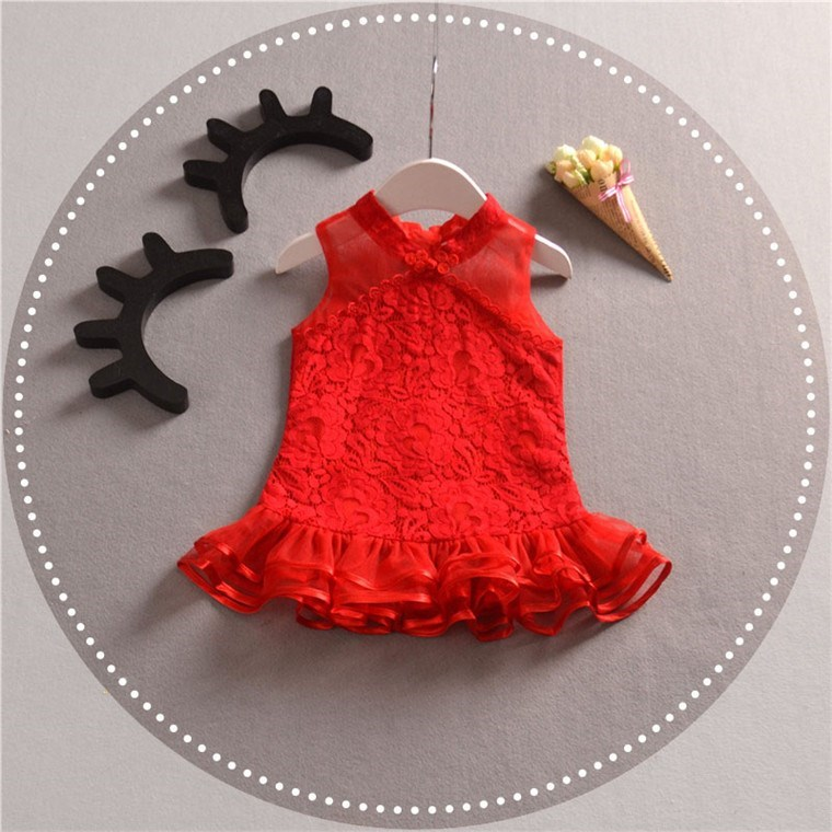 1 year birthday dress 3 spring models baby girl baby lace gauze princess dress 2 dress red