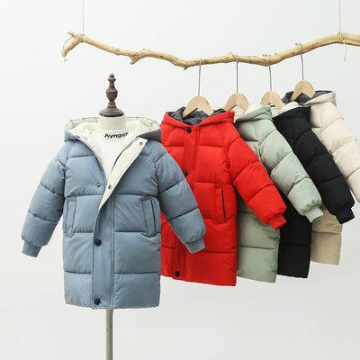 儿童羽绒棉服男童冬装加厚中长款女童棉衣外套中大童棉袄反季清仓