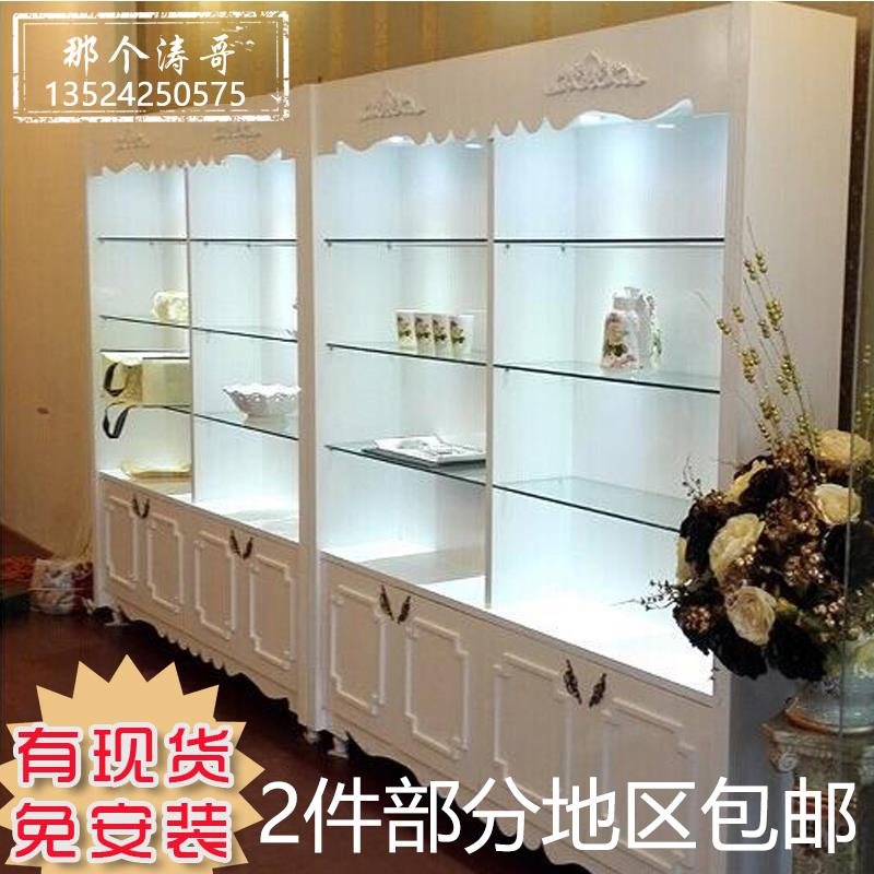 Cosmetics Display Cabinet Beauty Salon Products Showcase Simple European Skin Care Paint