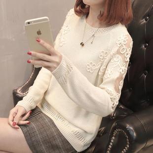 【早春新品】时尚白色毛衣针织衫