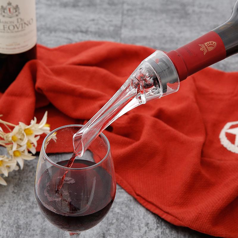 万事顺鹰嘴快速醒酒器红酒倒酒器亚克力葡萄酒分酒器插瓶直用酒具