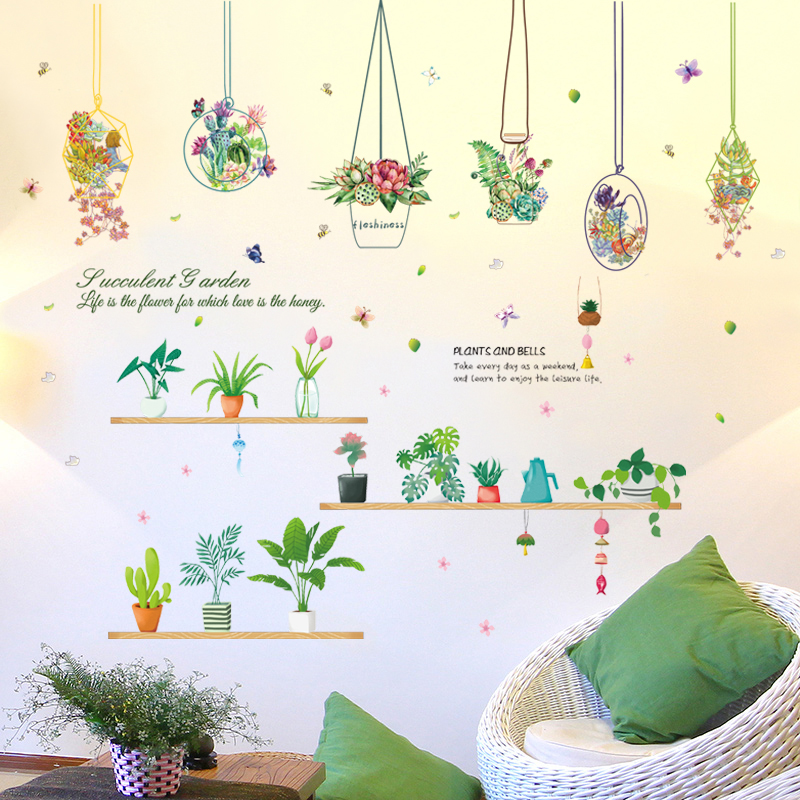 Small Fresh Wall Stickers Warm Bedroom Glass Door Window Decals Wall  Decorations Creative Personality Stickers Self