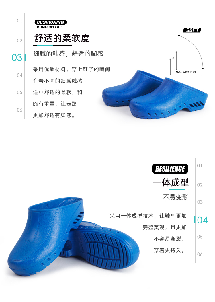 Anno Anno / ANNO giày y tế nhiệt độ cao giày công tác chống tĩnh chống axit trong phòng thí nghiệm xâm nhập dép