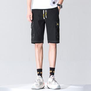 2019夏季新款休闲口袋装饰五分工装短裤
