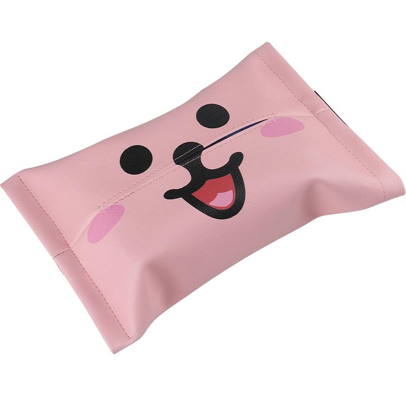 抖音同款玻尿酸鸭创意车载纸巾袋椅背遮阳挡简约可爱卡通纸巾套