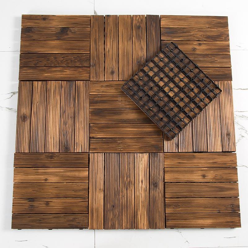 Углеродистый деревянный сад, консервант, балкон, терраса для самостоятельной сварки нескользящие Простой пластиковый деревянный шаг панель запирать с застежкой земля панель