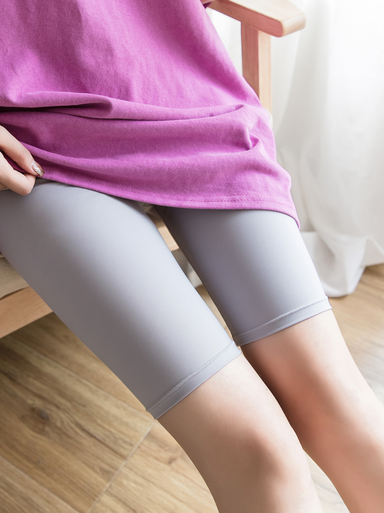 Summer five Ice Silk leggings women wear Korean version of the thin stretch shorts was thin anti-light tight pants