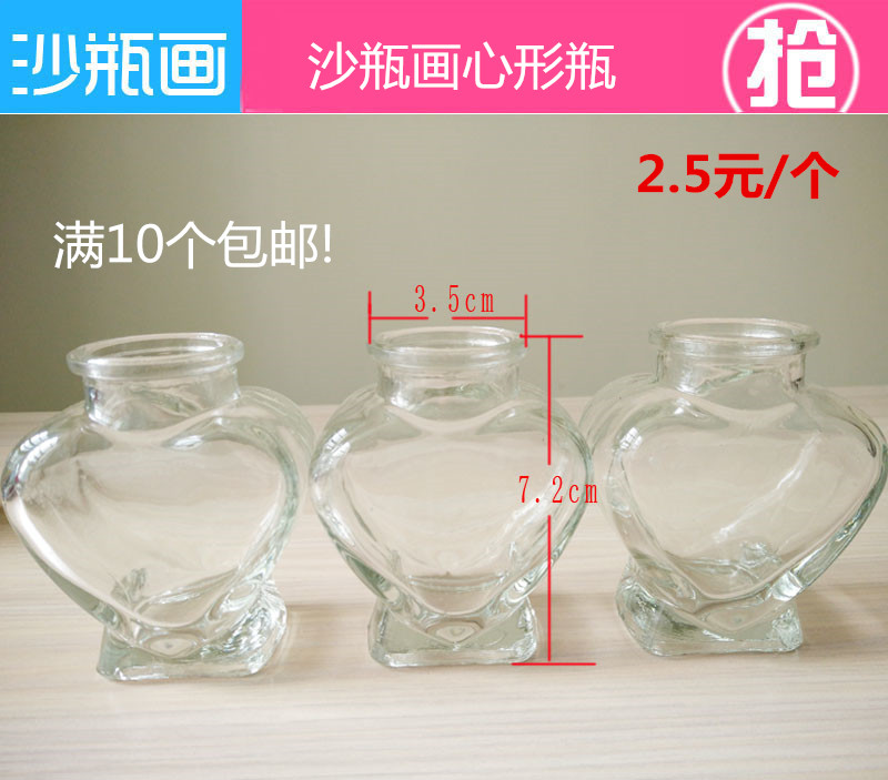 Sand Bottle Painting Diy Handmade Material Shaped Heart Shaped