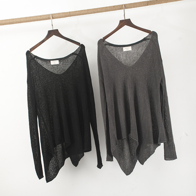 Modern Dance Clothes Large V-collar Irregular Loose and Lazy Perspective Dance Blouse Overcoat Dance Practice Clothes
