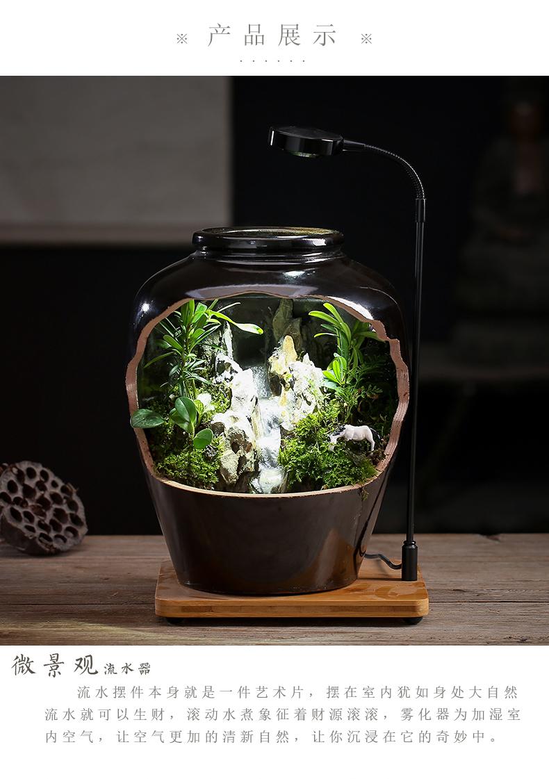 By sumeru world creative ceramic tank micro potted landscape water, tea pet Chinese zen furnishing articles