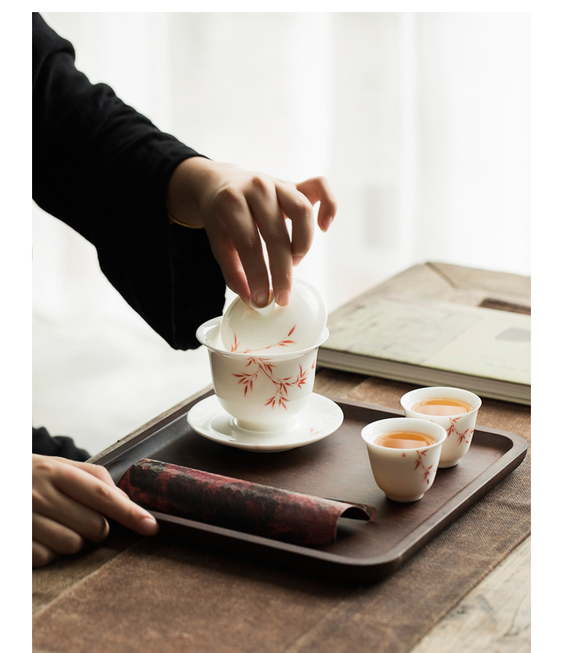 By weight of dry bamboo tea tray was single pot bearing pot rectangular tray was Japanese contracted household tea sets of bamboo