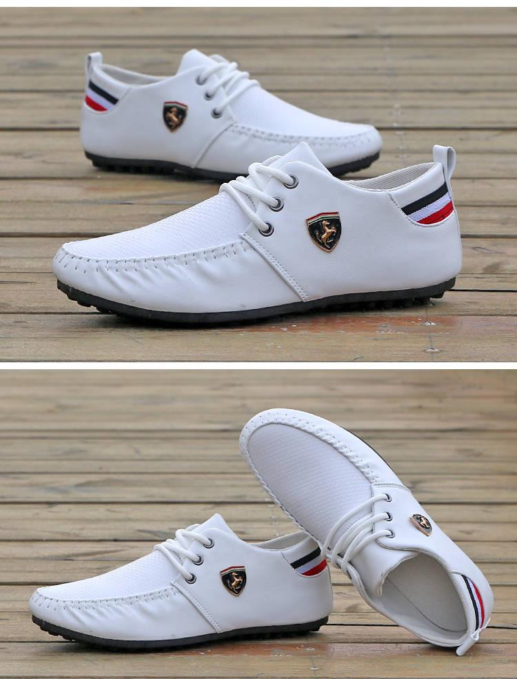 Hot Sale New Men's Shoes,Men Casual Shoes, Men's Leisure Canvas Shoes Beans Shoes white 39 3