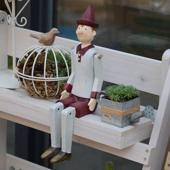 Warm Peninsula Pinocchio Grocery Puppet Home Garden Decoration with Succulent Garden Decoration Teacher's Day