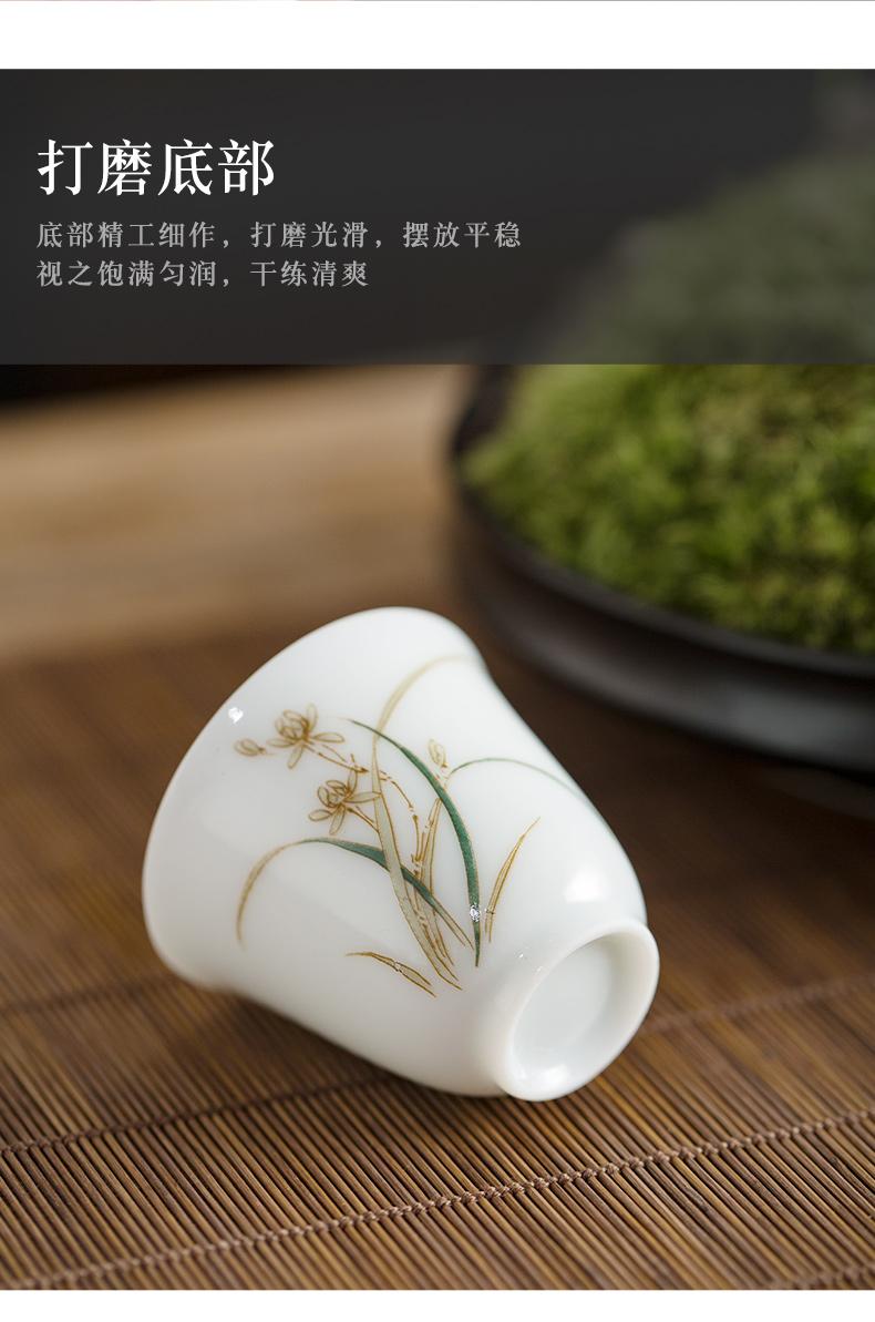 Hand - made of high - white porcelain cups little single CPU kung fu tea set sample tea cup jingdezhen ceramic bowl tea masters cup
