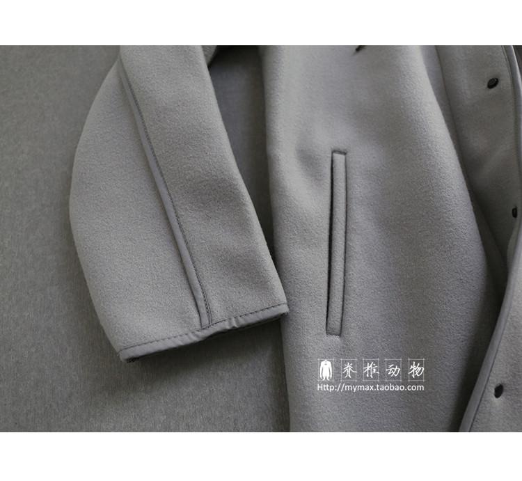 Người đàn ông có xương sống của Nhật Bản lỏng lẻo trùm đầu viền áo lót draping cắt áo len lông