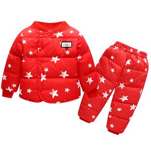 淘曲星儿童羽绒服套装1-3岁宝宝