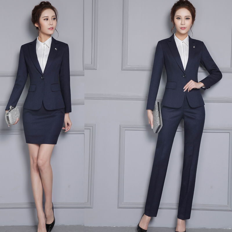 Hotel Front Desk Uniform Autumn And Winter Wear Professional Suit Foreman  Reception Work Clothes Long Sleeved Manager Cashier Female Clothing